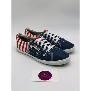 Superga American Flag Canvas Sneakers Size 8